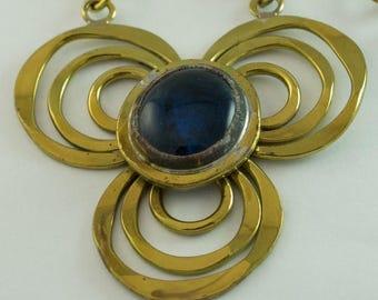 """50%Off Sale Rafael Canada Copper """"Club"""" Purple Glass Stone Pendant UNUSED & SIGNED"""