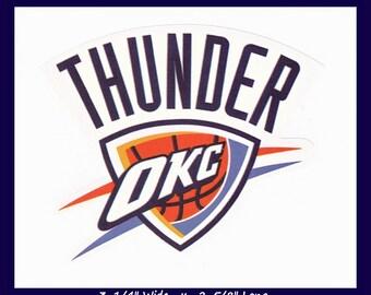 Oklahoma City Thunder Sticker.NBA Sticker.Basketball Sticker.Team Logo Sticker.Laptop Sticker.Tablet Sticker.IPad Sticker.Cell Phone Sticker
