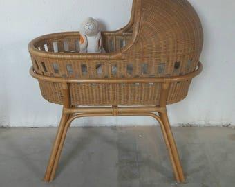 Rattan Crib Bassinet Cradle