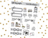 Light Grey Sampler, Bow Planner Stickers