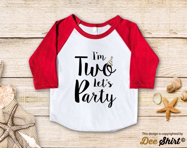 Second Birthday Shirt 2nd T Im Two Lets Party