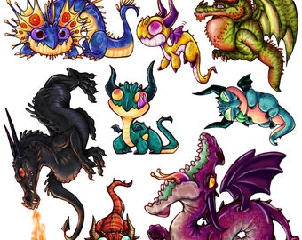Dragon Stickers Seconds