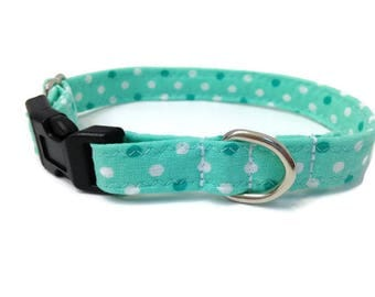 Mint green Extra Small dog collar, Toy Dog collar, Chihuahua dog collar, tiny dog collar, yorkie dog collar,mint green dog collar