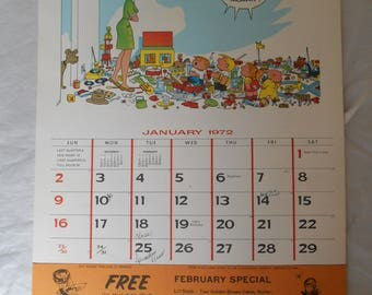 The Family Circus Calendar 1972 Giveaway from Country Kitchen Restaurants with Coupons