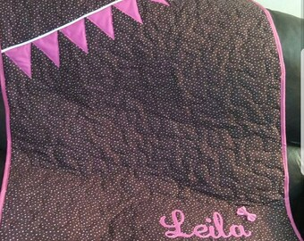 Baby quilt with name