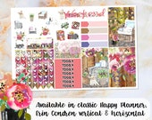 Garden Party sampler stickers - for Happy Planner, Erin Condren Vertical and Horizontal Planners - spring summer recollection flowers floral