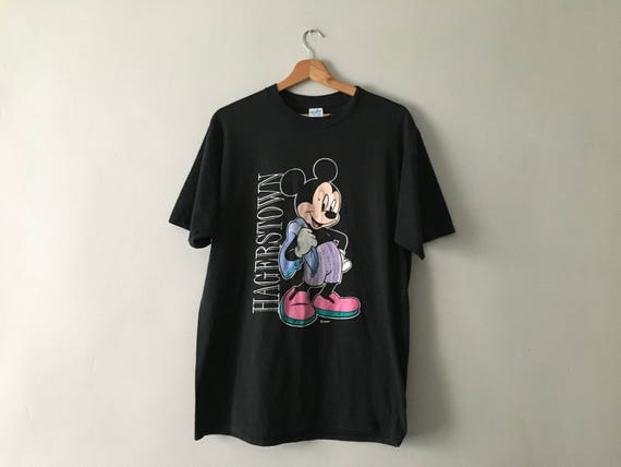 Vintage disney mickey mouse black t shirt oversized retro for Oversized disney t shirts