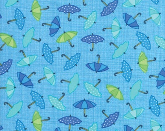 Moda RAINY DAY! Quilt Fabric 1/2 Yard By Me & My Sister - Blue Skies 22291 12