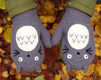 Mittens | Totoro | Miozaki | Crochet