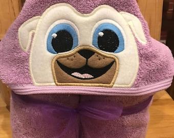 Puppy pal look alike hooded towel