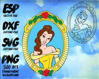 Disney Beauty and the beast Clipart , SVG Cutting , ESP Vectors files , T shirt , iron on , sticker ,Personal Use