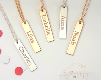 Name Necklace - Name Jewelry - Personalized Bar Necklace - Custom Jewelry - Bar Necklace - Bridesmaid Gift - Sister Necklace - BFF Gift -V30
