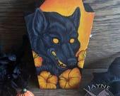 Wood Boxes - Unique Art - Werewolf,wolf,owl,animal,skull,bone,tentacle,vampire,fantasy,gift,oddity,unique,strange,coffin,wood,halloween.