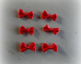 6 2 * 1 cm Red satin bows