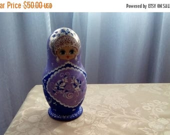 ON SALE Russian Nesting Dolls, Russian Matryoshka Dolls Set Of Seven Hand Painted Nesting Dolls