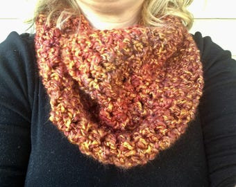 Cowl neck scarf - crochet