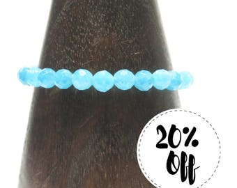 Aquamarine Beads - Bracelet