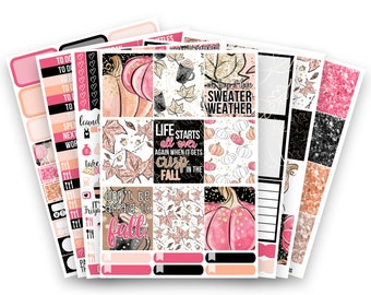 Jessica No White-Space Weekly Kit - Planner Stickers
