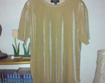 Velvet knit tee GR: L
