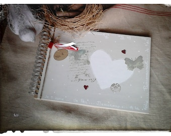 "Guest book for wedding ""Coeur"""