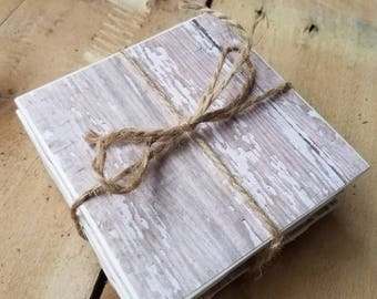 Drinking coasters.  Coasters.  Rustic home decor.