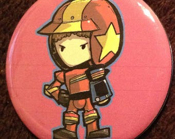 Itty Bitty Turbo Kid and Apple Button