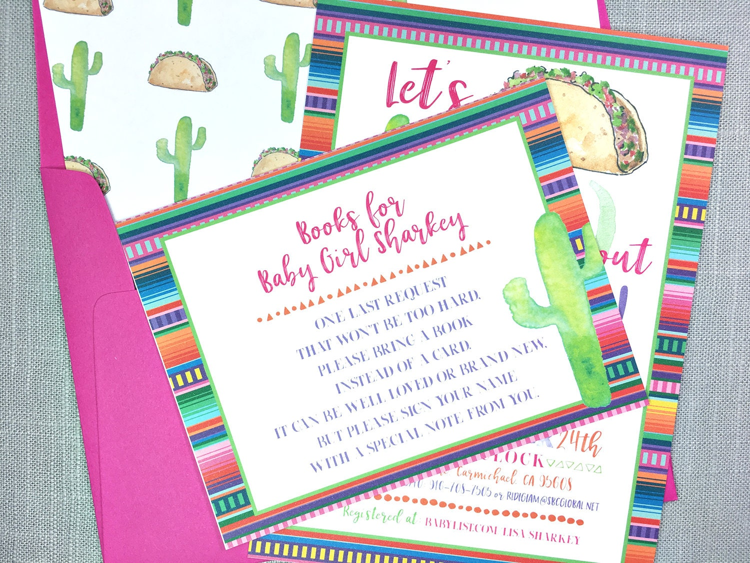 Taco Bout A Baby Shower Invitation, Baby Shower Fiesta invites ...