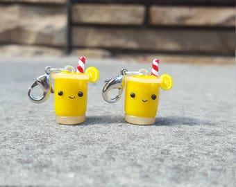 Cute Polymer Clay Lemonade Charms