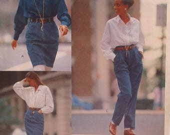 Vintage pattern VOGUE 2372 DKNY / skirt pants for women size: 12 to 16