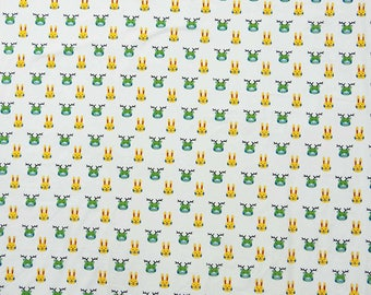 "Curtain Pillow Fabric, Dress Material, Printed Fabric, White Fabric, Sewing Crafts, 45"" Inch Cotton Fabric By The Yard ZBC8218C"