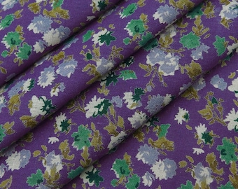 """Indian Dress Fabric, Floral Print, Designer Fabric, Home Decor, Craft Fabric, Quilt Material, 43"""" Inch Cotton Fabric By The Yard ZBC8659A"""