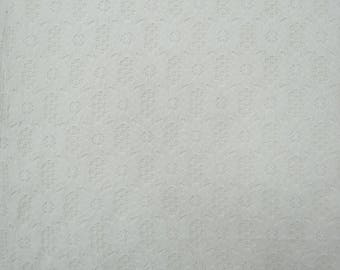 "White Net Fabric, Dressmaking Material, Quilting Fabric, Home Decoration, 43"" Inch Indian Fabric By The Yard ZBD193A"