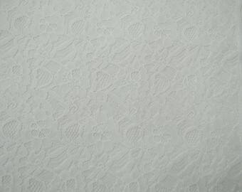 "Designer Net Fabric, White Color, Antique Fabric, Sewing Accessories, Quilt Fabric, 42"" Inch Fabric By The Yard ZBD194A"