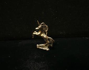 Original silicon bronze unicorn sculpture by Daniel J. Riccio