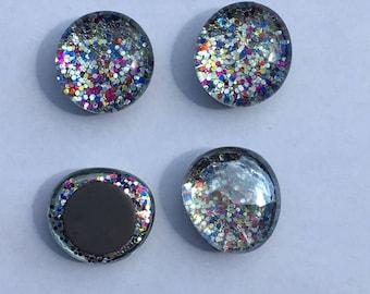 Rainbow Sparkle Magnets - Rainbow Glitter Magnets - Glittery Office Supplies - Rainbow Office Supplies - Rainbow Locker Supplies