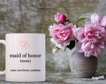Maid of Honor | Will You Be My Maid of Honor Mug | Wedding Party | Bridal Party | Wedding Gifts | Gifts | Bride to Be