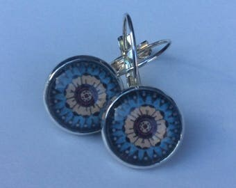 12mm Round Glass Dome Lever Back Earrings