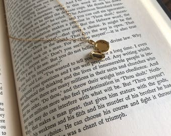 Minimalist Locket Necklace - Heirloom Necklace - Gold filled Necklace - Granddaughter gift - gift for daughter - everyday necklace