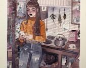 Kitchen Magick Art Print