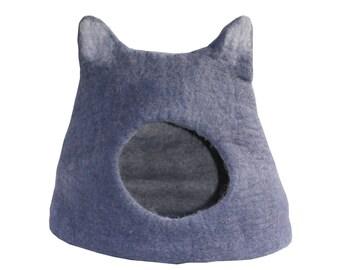 handmade 100% felt cat bed/house