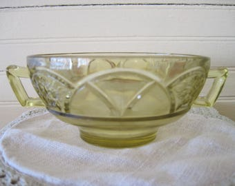 Federal Glass Cream Soup Bowl-Rosemary- Item #1356