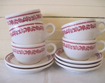 Buffalo China Restaurant Ware Cups and Saucers -  Item #1384