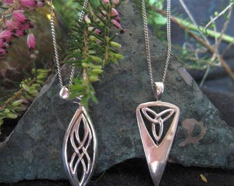 Two Lovely Celtic Pendants On Chains
