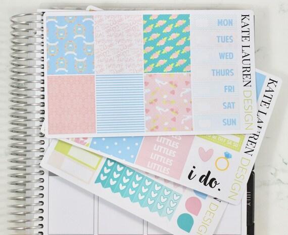 Wedding Planner Stickers Kit For The Erin Condren Life Vertical Sticker From KateLaurenDesign On Etsy
