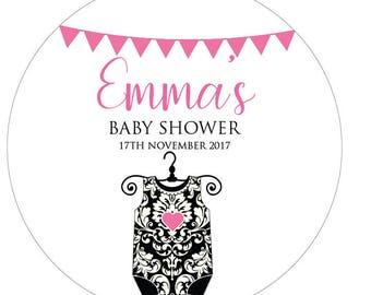 12 Baby Shower Stickers