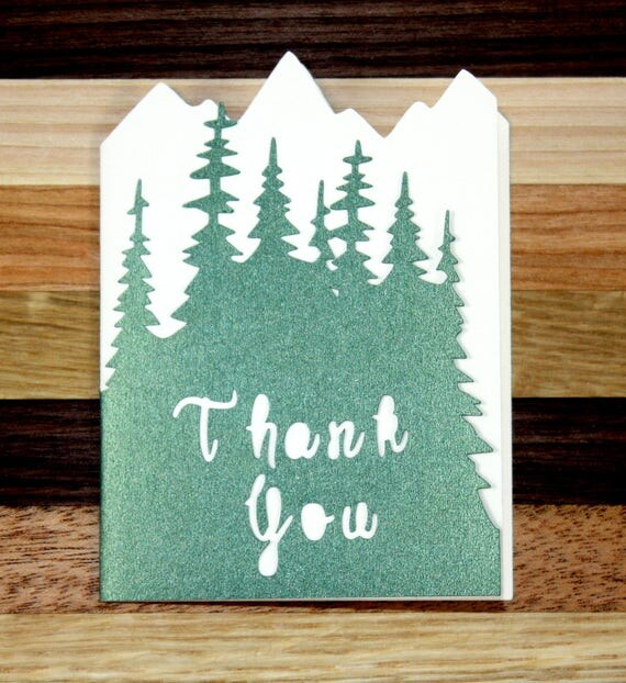 Woodlands Wedding Thank You Card Set