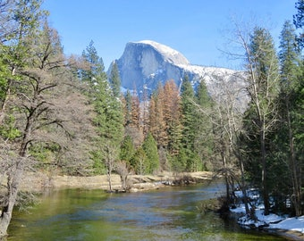 Half Dome from River print