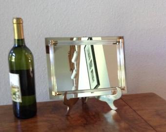 Vintage Art Deco Mirror Tray, Serving Tray, Vanity Tray, Candle Tray, Perfume Tray