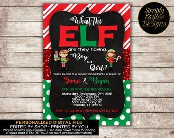 Elf Gender Reveal Party - Christmas Gender Reveal Party