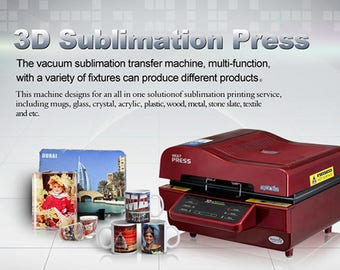 Multi-Function 3D Sublimation Printer with Vacuum Heat Press for Mugs, Cups, Cell Phone Cases & More
